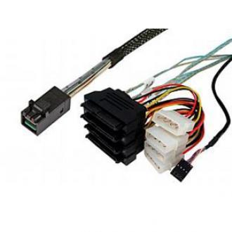 9169 Cable Mini SAS HD SFF-8643 (mSAS HD) -- SFF-8482 with power, L=1M (аналог ACK-I-HDmSAS-4SAS-SB-1M) SFF 8643 (m 8482 power ACK HDm SB 1M HDmSAS 4SAS