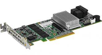 AOC-S3108L-H8IR Supermicro SAS 12Gb/s, 2Gb cache, optional CacheVault, Single AOC 3108 IR 12 Gb cache Cache Vault CacheVault