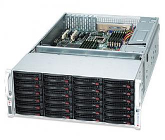SYS-6047R-E1R36 SuperServer SYS-6047R-E1R36, 19' 4U, 2 x INTEL LGA 2011, 2x PSU, up to 256GB DDR3 RAM, 36 hot-swap drive bays,, GbE, IP-KVM w/dedicated LAN, video, 3xPCI-E (x16), (x8), no DVD, FDD, Black SYS 6047 Super Server 19 2011 PSU 256 GB DDR RAM hot swap bays Gb IP KVM dedicated LAN video PCI (x 16 DVD FDD GbE xPCI 3xPCI (x16 (x8