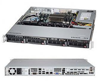 SYS-5018D-MTF SuperServer 1U, 1 x INTEL LGA 1150, up to 32GB DDR3 RAM, 4x hot/swap SAS/SATA, ports SATA 6G (RAID levels: 0,1,5,10), 2x GbE lan, video, 1xPCI-E (x8 in x16), IP-KVM, no DVD, Black SYS 5018 MTF Super Server 1150 32 GB DDR RAM hot swap SAS levels 10 Gb lan video PCI (x 16 IP KVM DVD xPCI 1xPCI x16