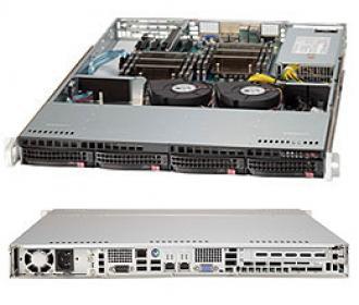 6017R-TLF SuperServer SYS-6017R-TLF, 2 x INTEL LGA 2011, 1x PSU, up to 256GB DDR3 ECC RAM, 4x3.5' SAS/SATA hot-swap drive bays, 8 ports SATA Intel C606 (RAID levels: 0,1,5,10), 2x1GbE (82574L), IP-KVM w/dedicated LAN, video, 1xPCI-E (x8), no DVD, FDD, Black 6017 TLF Super Server SYS 2011 PSU 256 GB DDR RAM SAS hot swap bays 606 levels 10 Gb (82574 IP KVM dedicated LAN video PCI (x DVD FDD x1 GbE 2x 1GbE (82574L xPCI 1xPCI (x8