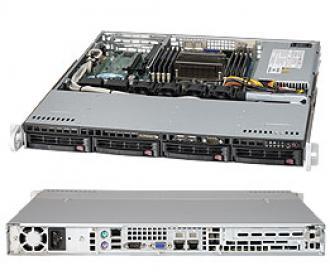SYS-5017R-MTF SuperServer SYS-5017R-MTF, 1 x INTEL LGA 2011, up to 256GB DDR3 RAM, 4x3.5' hot-swap drive bays, 4 ports SATA 3Gb/s Intel C602 (RAID levels: 0,1,5,10), 2xGbit, IP-KVM w/dedicated LAN, video, 1xPCI-E (x8), no DVD, FDD, Black SYS 5017 MTF Super Server 2011 256 GB DDR RAM hot swap bays Gb 602 levels 10 Gbit IP KVM dedicated LAN video PCI (x DVD FDD xGbit 2xGbit xPCI 1xPCI (x8