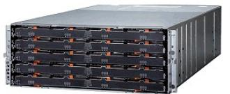 DСS3700 Дисковый массив IBM Dual Controller with 8 Gb Fibre Channel, 6 SAS connectivity, 60 drive per 4U 3700 Channel connectivity
