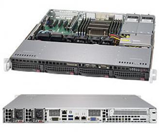 SYS-5018R-MR Supermicro Superserver 19' 1U, 2xPSU, Intel C612, 1xLGA2011-3, up to 512GB (8 slots) DDR4 2133MHz ECC Registered, 4x3.5' SAS/SATA hot-swap drive bays, 4 ports SATA 6Gb/s C612 (RAID levels: 0,1,5,10), 2x1GbE (Intel i350, RJ45), IP-KVM, Video, 1xPCI-E (x16), Black SYS 5018 MR 19 PSU 612 LGA 2011 512 GB slots DDR 2133 MHz Registered SAS hot swap bays Gb levels 10 350 RJ 45 IP KVM Video PCI (x 16 6Gb x1 GbE 2x 1GbE i350 RJ45 xPCI 1xPCI (x16