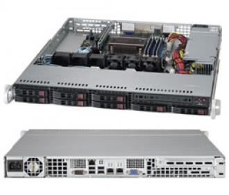SYS-1018D-73MTF SuperServer 1U, 1 x INTEL LGA 1150, up to 32GB DDR3 RAM, 8x 2.5' hot/swap SAS/SATA, 8 ports SAS 6Gb/s LSI 2308 (RAID levels: 0,1,10), 2x GbE lan, video, 1xPCI-E (x8 in x16), IP-KVM, Black SYS 1018 73 MTF Super Server 1150 32 GB DDR RAM hot swap SATA Gb levels 10 lan video PCI (x 16 IP KVM 6Gb xPCI 1xPCI x16