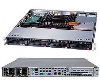 6017R-TLRF SuperServer SYS-6017R-TLRF, 2 x INTEL LGA 2011 (up to 95W), 2x PSU, up 256GB DDR3 ECC RAM, 4x3.5' SAS/SATA hot-swap drive bays, 4 ports SATA Intel C602 (RAID levels: 0,1,5,10), 2x1GbE (82574L), IP-KVM w/dedicated LAN, video, 1xPCI-E (x8), no DVD, FDD, Black 6017 TLRF Super Server SYS 95 PSU 256 GB DDR RAM SAS hot swap bays 602 levels 10 Gb (82574 IP KVM dedicated LAN video PCI (x DVD FDD x1 GbE 1GbE (82574L xPCI 1xPCI (x8