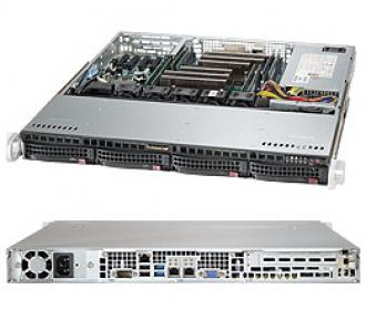 SYS-6018R-MT Supermicro Superserver 19' 1U, 1xPSU, Intel C612, 2xLGA2011-3 (up to 135W), up 512GB (8 slots) DDR4 2133MHz ECC Registered, 4x3.5' hot-swap drive bays, 4 ports SATA 6Gb/s C612 (RAID levels: 0,1,5,10), 2x1GbE (Intel i210, RJ45), IP-KVM, Video, 1xPCI-E (x8), Black SYS 6018 MT 19 PSU 612 LGA 2011 135 512 GB slots DDR 2133 MHz Registered hot swap bays Gb levels 10 210 RJ 45 IP KVM Video PCI (x 6Gb x1 GbE 2x 1GbE i210 RJ45 xPCI 1xPCI (x8