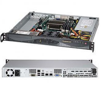SYS-5018D-M4F SuperServer 1U, 1 x INTEL LGA 1150, up to 32GB DDR3 RAM, 2 fixed drive bays, ports SATA 6G (RAID levels: 0,1,), 4x GbE lan, video, 1xPCI-E (x8 in x16), IP-KVM, Black SYS 5018 Super Server 1150 32 GB DDR RAM bays levels ), Gb lan video PCI (x 16 IP KVM xPCI 1xPCI x16