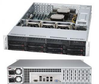 SYS-6027R-iPF4+ Supermicro SuperServer SYS-6027R-iPF4+ 19' 2U, 2xPSU, Intel C602, 2xLGA2011, up to 768GB/128GB (24 slots) DDR3 1600MHz ECC Registered/Unbuffered, 8x3.5' hot-swap drive bays, 8 ports SATA 3Gb/s C602 (RAID levels: 0,1,5,10), 2 6Gb/s 0,1,10), 4x1GbE (i350), IP-KVM, Video, 4xPCI-E (x16), 1xPCI-E (x8), (x4 in x8), Black SYS 6027 PF Super Server  19 PSU 602 LGA 2011 768 GB 128 slots DDR 1600 MHz Registered Unbuffered hot swap bays Gb levels 10 (i 350 IP KVM Video PCI (x 16 6Gb x1 GbE 4x 1GbE (i350 xPCI 4xPCI (x16 1xPCI (x8 x8