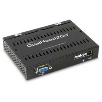 D2G-A2A-IF Matrox DualHead2Go, enables you to attach two displays your computer IF Dual Head Go