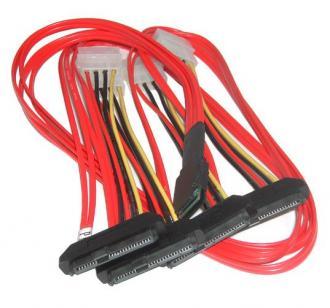 7045 Cable Mini SAS SFF-8087 (mSAS) --- 4 x SFF-8482 (Signal+Power) (аналог ACK-I-mSASx4-SAS4x1-FO- 1m R) SFF 8087 (m 8482 (Signal Power ACK SASx FO mSASx4 mSASx SAS4 x1 4x