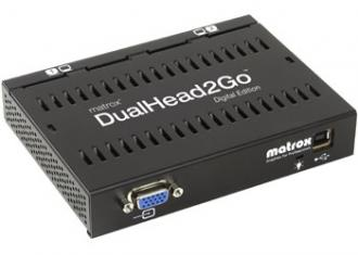 D2G-A2D-IF Matrox DualHead2Go, Digital Edition enables you to attach two displays your computer IF Dual Head Go